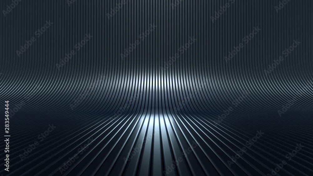 Fototapety, obrazy: Stylish luxury elegant studio pedestal background. 3d illustration, 3d rendering.