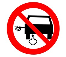 Turn Off Engine When Refueling, Safety Sign.