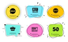Dont Miss Out. Best Seller, Quote Text. Special Offer Price Sign. Advertising Discounts Symbol. Quotation Bubble. Banner Badge, Texting Quote Boxes. Miss Out Text. Coupon Offer. Vector