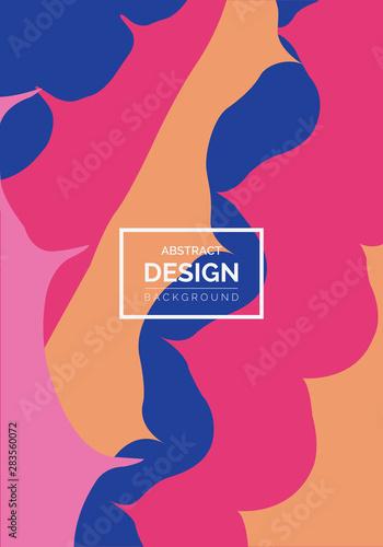 Fototapety, obrazy:  Abstract pop art color paint splash pattern background. Vector overlay geometric design