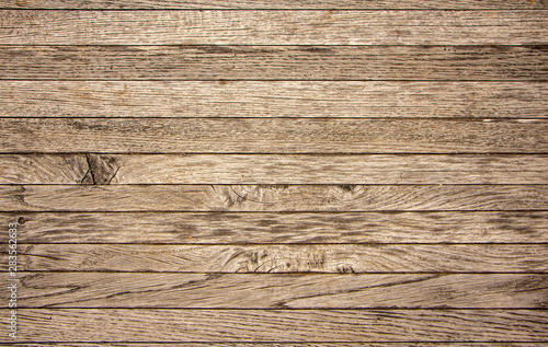 Old Yellow pine wood texture. Floor surface background Fototapet