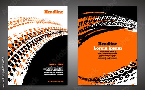 Fotomural  Grunge Tire Poster Set