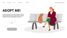 Pets Adoption Landing Page. Ad...