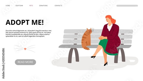 Pets adoption landing page Wallpaper Mural