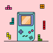 Game Console Game Boy With Tet...