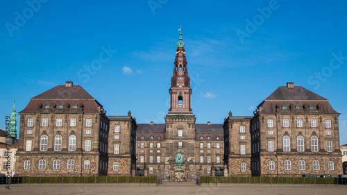 Photo  Christiansborg palace in Copenhagen Denmark