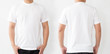 canvas print picture - White T-Shirt front and back, Mockup template for design print