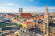 Munich skyline with Marienplatz town hall