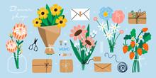 Flower Bouquets, Kraft Paper, ...