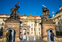 Ceremony Of The Changing Of The Guard At Prague Castle