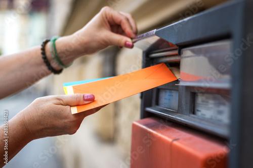Fototapeta  Sending letters by mail