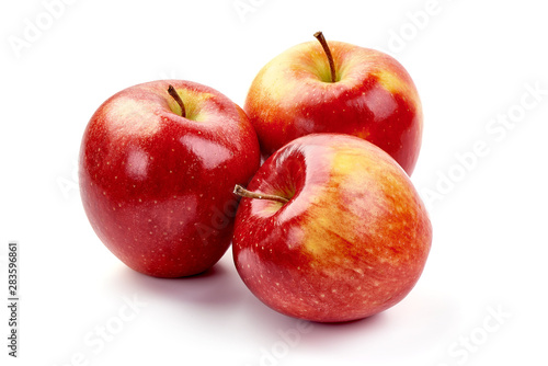 Fresh Cameo apples, isolated on white background Wallpaper Mural