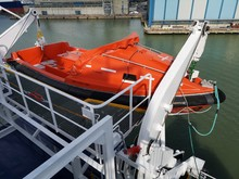 Lifeboat On A Ship