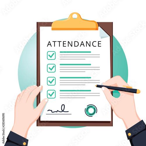 Attendance concept Wallpaper Mural