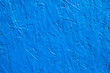 canvas print picture - Blue painted wall surface texture background