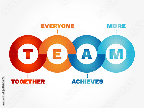 TEAM - Together Everyone Achieves More, business concept acronym Canvas Print