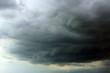 Leinwandbild Motiv Sky with heavy rainy clouds on grey day