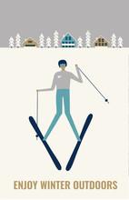 Skier Winter Poster