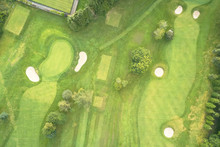 Aerial View Of Links Golf Cour...
