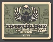 Ancient Egypt Religion Gods. Anubis, Horus, Scarab