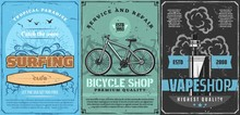 Surfing Board, Bicycle Or Bike...