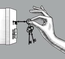 Female Hand Unlocks A Safe Wit...