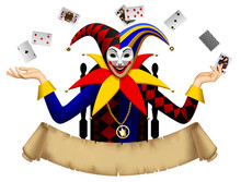 Joker With Playing Cards With ...