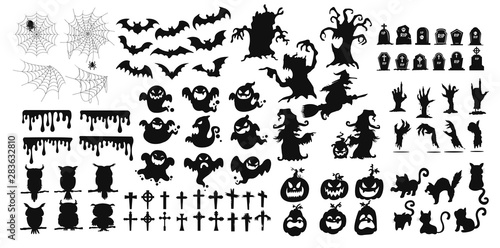 The shadow collection of ghosts decorate the website in the Halloween festival Wallpaper Mural