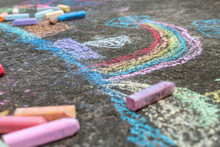 Colorful Chalk Crayons Drawing...