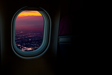 Night Cityscapes View From Air...