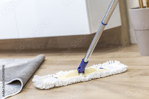Modern White Mop Being Used For