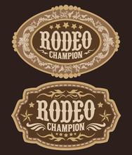 Rodeo Champion Cowboy Belt Buc...