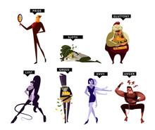 Seven Deadly Sins Cartoon Char...