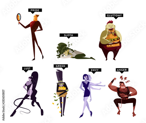 Foto seven deadly sins cartoon characters