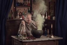 Elderly Alchemist Monk Brews  ...