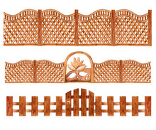 Set Of Wooden Decorative Fence...
