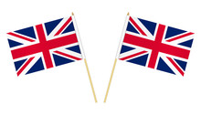 Two Small United Kingdom Flags...