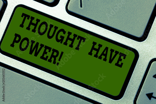 Fotografie, Obraz Text sign showing Thought Have Power