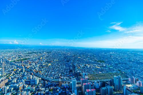 Foto op Plexiglas Blauw 大阪・都市景観