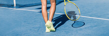 Tennis Player Woman Shoes And ...