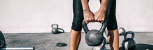 Kettlebell Weightlifting Woman...