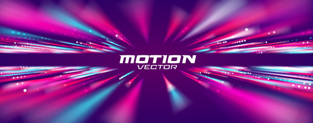 Motion speed line abstract vector background, Moving effect light.