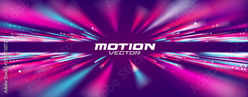 Fotografiet Motion speed line abstract vector background, Moving effect light