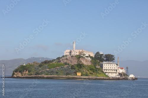 San Francisco landmarks - Alcatraz Prizon island Tablou Canvas
