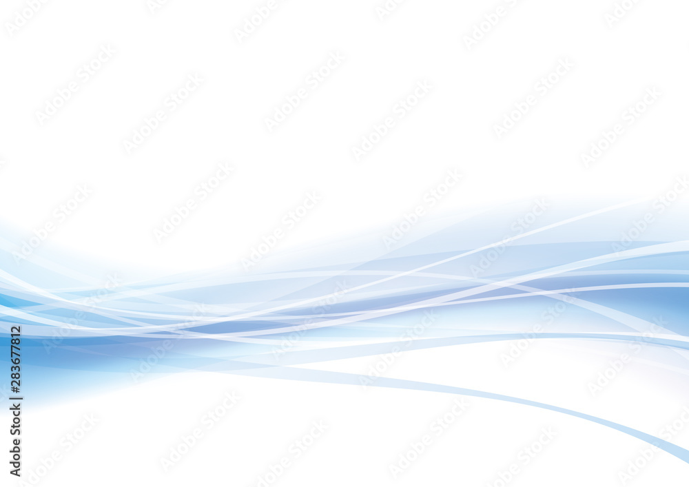 曲線 波 青 背景