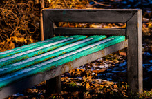 Old Park Bench With First Snow...