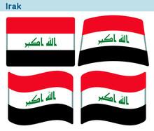 「イラクの国旗」4個の形のアイコンデザイン