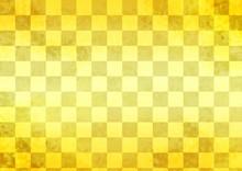 和柄:金色の格子柄