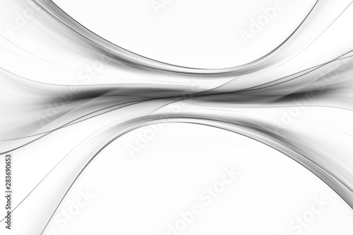 Photo Stands Abstract wave White and grey waves background