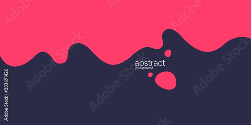 Fototapeta Bright poster with dynamic waves. Vector illustration in minimal style obraz